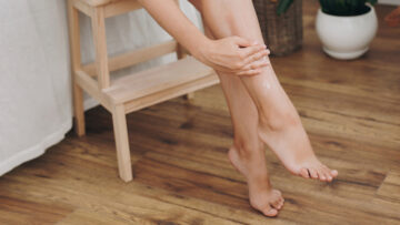 Abkühlung für schwere Beine